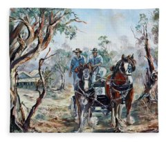 Clydesdales And Cart Fleece Blanket