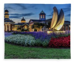 C N U Campus From Avenue Of The Arts Fleece Blanket