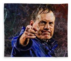 Coach Bill Belichick Fleece Blanket