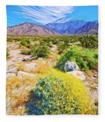 Coachella Spring Fleece Blanket