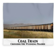 Coal Train Fleece Blanket