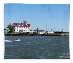 Coast Guard Station Atlantic City Fleece Blanket