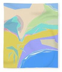 Coast Of Azure Fleece Blanket