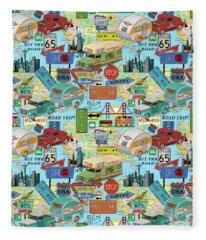 Coast To Coast-l Fleece Blanket