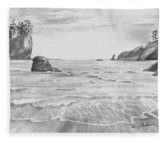 Coastal Beach Fleece Blanket