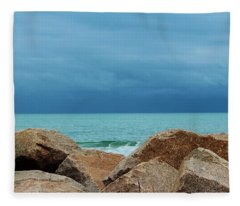 Coastal Blues Fleece Blanket
