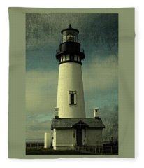 Coastal Breeze At Yaquina Head Fleece Blanket
