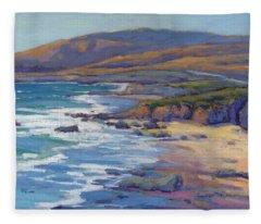 Coastal Cruising 8 / San Simeon Fleece Blanket