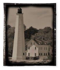 Coastal Lighthouse 2 Fleece Blanket