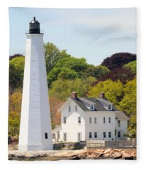 Coastal Lighthouse-c Fleece Blanket