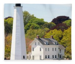 Coastal Lighthouse-c Fleece Blanket