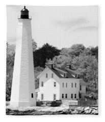 Coastal Lighthouse Fleece Blanket