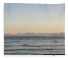 Coastal Mountains At Sunrise Fleece Blanket