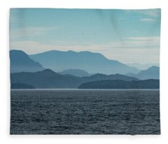 Coastal Mountains Fleece Blanket