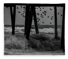 Coastal Movements Fleece Blanket