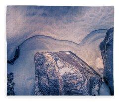 Coastal Rocks Fleece Blanket