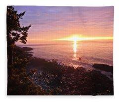 Coastal Sunrise Fleece Blanket