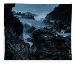 Coastal Trail Long Exposure Fleece Blanket