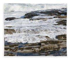 Coastal Washout Fleece Blanket