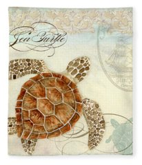 Coastal Waterways - Green Sea Turtle 2 Fleece Blanket