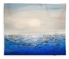 Coastal_3 Fleece Blanket