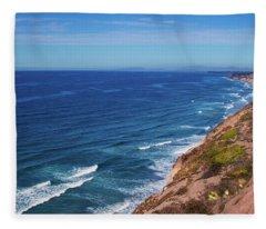 Coastline At Torrey Pines Fleece Blanket