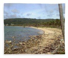 Coastline In Guam II Fleece Blanket