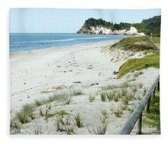 Coastline Nz Fleece Blanket