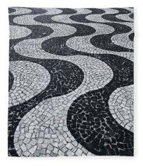 Cobblestone Waves Fleece Blanket