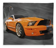 Cobra Power - Shelby Gt500 Mustang Fleece Blanket