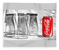 Coca-cola Ready To Drink By Kaye Menner Fleece Blanket