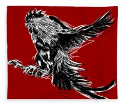 Cock Bw II Transparant Fleece Blanket