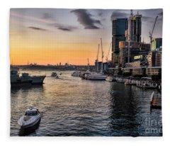 Cockle Bay Wharf Fleece Blanket