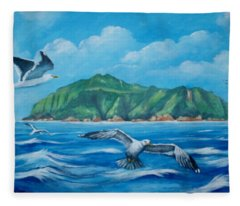 Coco's Island, Costa Rica Fleece Blanket