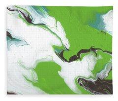 Coffee Bean 1- Abstract Art By Linda Woods Fleece Blanket