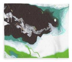 Coffee Bean 2- Abstract Art By Linda Woods Fleece Blanket