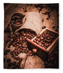Coffee Bean Art Fleece Blanket