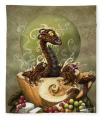 Coffee Dragon Fleece Blanket