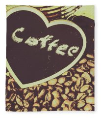 Coffee Heart Fleece Blanket