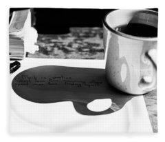 Coffee Poetry Fleece Blanket