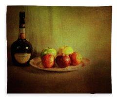 Cognac And Fruits Fleece Blanket
