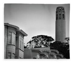 Coit Tower Fleece Blanket