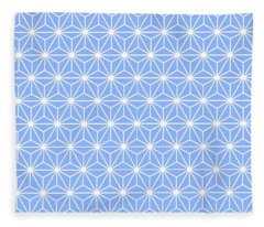 Cold Blue Geometric Flowers And Florals Isosceles Triangle Fleece Blanket