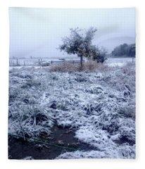 Cold Blue Fleece Blanket