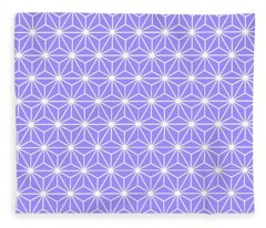 Cold Lilac Geometric Flowers And Florals Isosceles Triangle Fleece Blanket