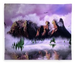 Cold Mountain Morning Fleece Blanket