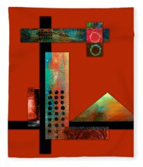 Collage Abstract 1 Fleece Blanket