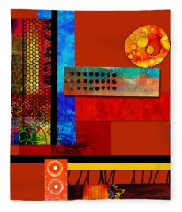 Collage Abstract 2 Fleece Blanket