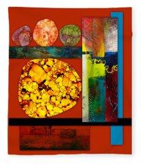 Collage Abstract 3 Fleece Blanket