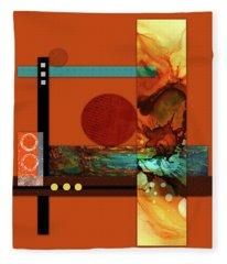 Collage Abstract 6 Fleece Blanket